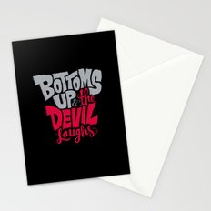 Bottoms Up & The Devil Laughs Stationery Cards