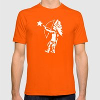 Free Mens Fitted Tee Orange SMALL