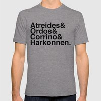 Houses Mens Fitted Tee Tri-Grey SMALL