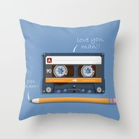 Old School Relationship Throw Pillow