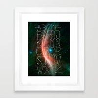 Alphabet in Outer Space Framed Art Print