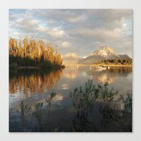 Sunrise on Jackson Lake, Grand Teton National Park Canvas Print