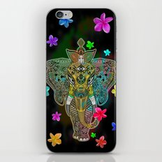 Elephant Zentangle Doodle Art  iPhone & iPod Skin