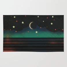 Abstract Moonscape Rug