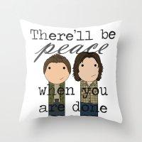 Supernatural Peace Throw Pillow