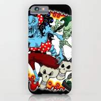 iPhone & iPod Case featuring tattooing zombies by Andrew Mark Hunter