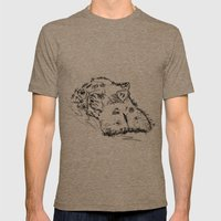 Hippo Mens Fitted Tee Tri-Coffee SMALL