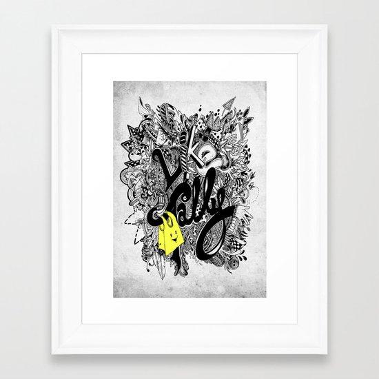 Like TOTEStally Framed Art Print