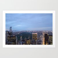 Central Park View from Rockefeller Centre Art Print