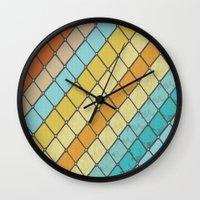 Fish Aqua Print Wall Clock