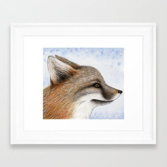 Grey Fox Framed Art Print