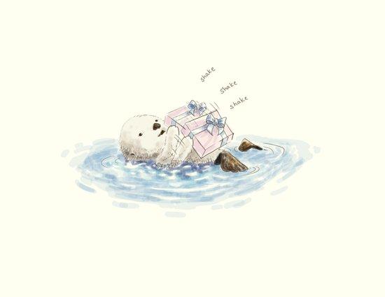 sea otter's birthday Art Print