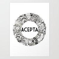 Acepta Art Print