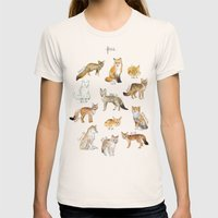 Foxes Womens Fitted Tee Natural SMALL
