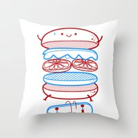Street burger  Throw Pillow