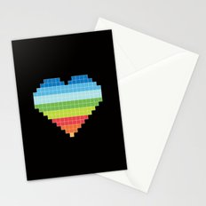 Pixelated Heart. Stationery Cards