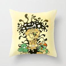 Clockwork parasite Throw Pillow