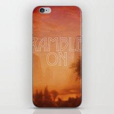 Ramble On iPhone & iPod Skin