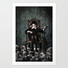 Queen of Skulls Art Print