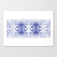 The Willow Pattern (Blue… Canvas Print