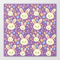 Kawaii Bunny Canvas Print