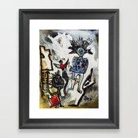 Destruction of Radiance Framed Art Print