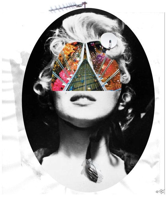 Marilyn, Hugo and Me Collage Canvas Print