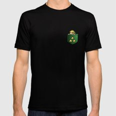 THE LEGEND OF ZELDA  Black Mens Fitted Tee SMALL