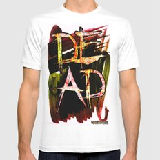 D.E.A.D  SMALL White Mens Fitted Tee