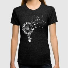 Going where the wind blows Womens Fitted Tee Tri-Black MEDIUM