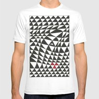 Triangles Mens Fitted Tee White SMALL