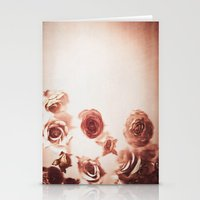 Falling Flower Variation II Stationery Cards