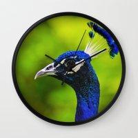 Pretty as a Peacock I Wall Clock