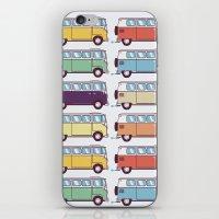 VW Van Parade iPhone & iPod Skin