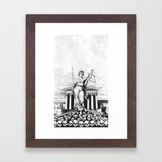 The Skulls of Justice B&W Framed Art Print