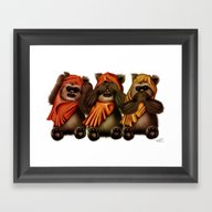 Framed Art Print featuring STAR WARS The Three Wise… by Tom Brodie-Browne