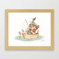 boater Framed Art Print