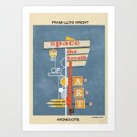 Quote Frank Lloyd Wright Art Print