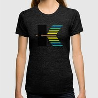 K like K Womens Fitted Tee Tri-Black SMALL