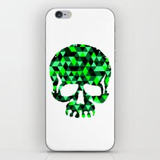 Triangle Camouflage Skull (WITHE) iPhone & iPod Skin