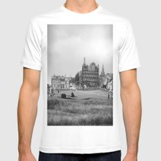 St. Andrews White SMALL Mens Fitted Tee