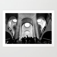 Inside the Louvre  Art Print
