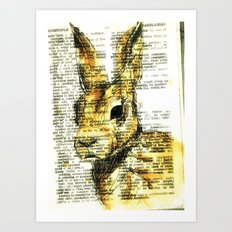 rabbit n. Art Print