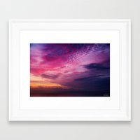 Red Sky Sunrise Framed Art Print