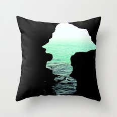 Out of cave Throw Pillow
