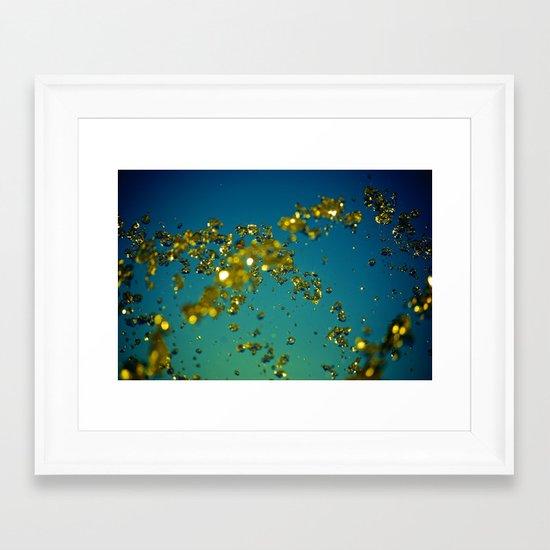 Drops of imagination Framed Art Print