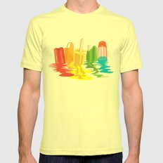 Summer of Melted Dreams Mens Fitted Tee Lemon SMALL