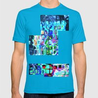Pieces Of Inspiration Mens Fitted Tee Teal SMALL