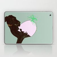 To spring a leak, is as dog is to egg. Laptop & iPad Skin