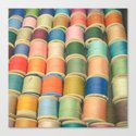 Sew a Rainbow Canvas Print